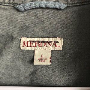 Merona Tops - Merona • Gray Chambray Button Down